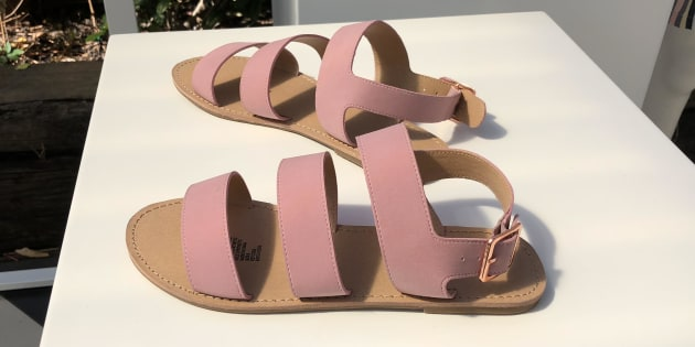 Slides and sandals are huge this summer and millennial pink is still a popular colour. These also come in black.