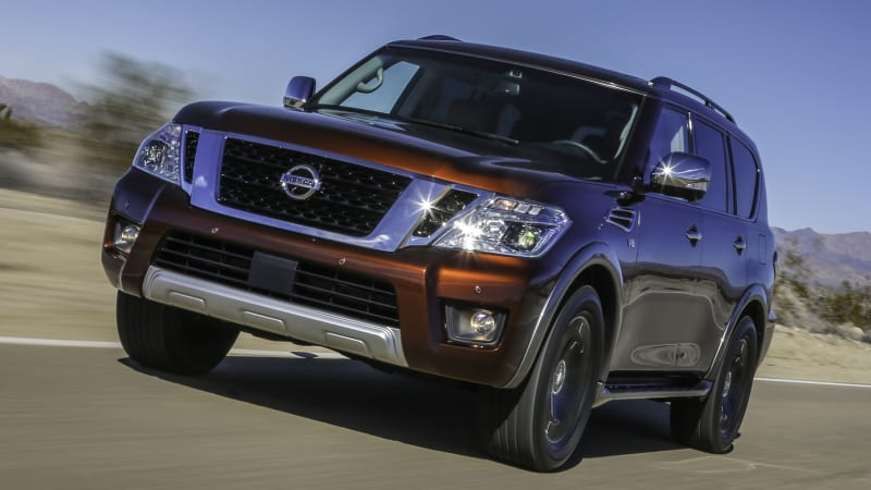 2018 nissan armada platinum 4wd review autoblog. Black Bedroom Furniture Sets. Home Design Ideas
