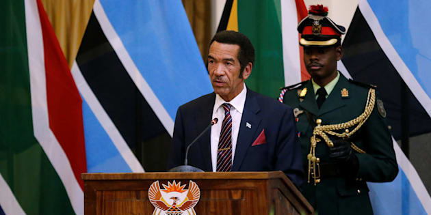 Botswana's former president, Ian Khama, speaks during the Botswana-South Africa Binational Commission in Pretoria, on November 11 2016.