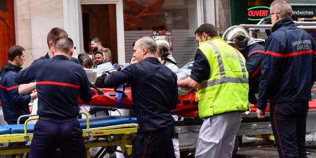 Les secours interviennent à Paris, près de la gare de Lyon, en avril 2018 (photo d'illustration)