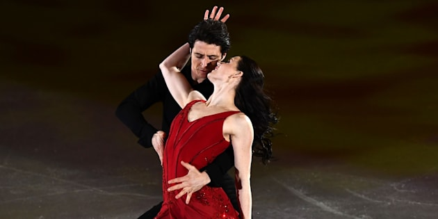 Canada's Tessa Virtue and Canada's Scott Moir perform during the figure skating gala event during the PyeongChang 2018 Winter Olympic Games on Feb. 25, 2018.