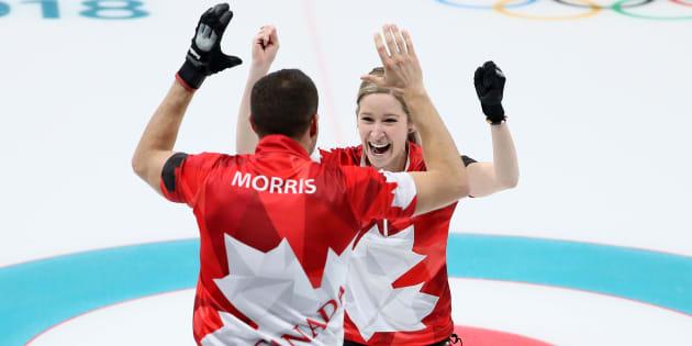 John Morris et Kaitlyn Lawes.