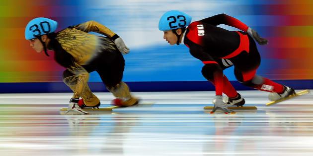 Kei Sato, à gauche, lors d'une compétition organisée en Autriche en 2012.