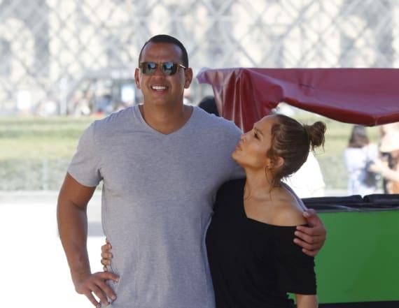 Is J-Lo on A-Rod's workout playlist?