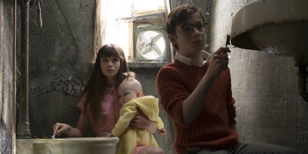 Les trois orphelins Baudelaire.
