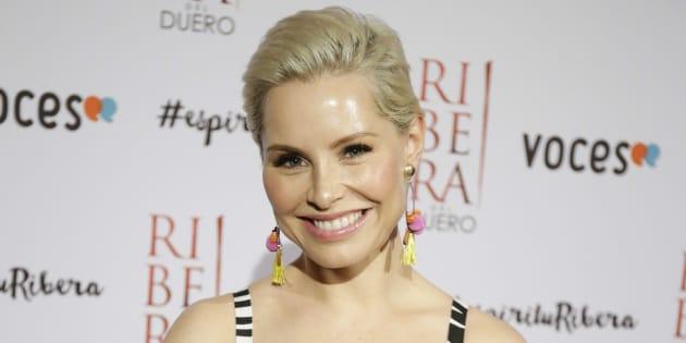 La cantante Soraya Arnelas durante la 2 edición de la gala 'Espíritu Ribera' en Madrid el 25 de mayo de 2017.