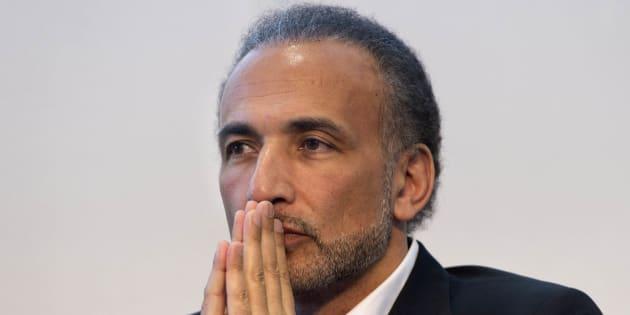 Tariq Ramadan lors du 31e salon du livre et de la presse de Genève le 30 avril 2017.