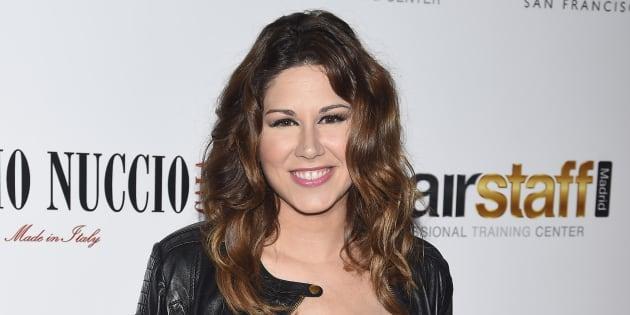 """La cantante Tamara durante la gala """" Hairstaff """" a favor de la Fundación Sindrome de Down en Madrid. 16/09/2015 Madrid"""