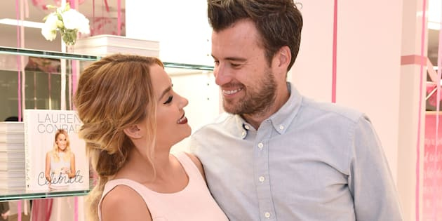 """Former """"The Hills"""" star Lauren Conrad announced Sunday that she is expecting her first child with her husband, William Tell."""