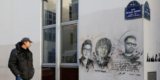 Les anciens bureaux de Charlie Hebdo le 5 janvier 2017, quasiment deux ans jour pour jour après l'attentat qui a endeuillé le journal satirique