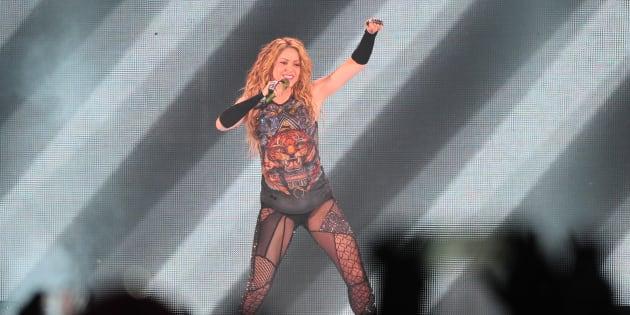 Shakira durante el concierto de Madrid, el pasado de julio.