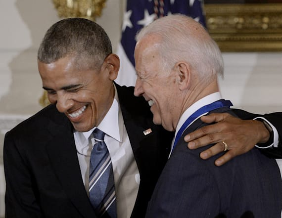 Obama lavishes praise on Biden — to a point
