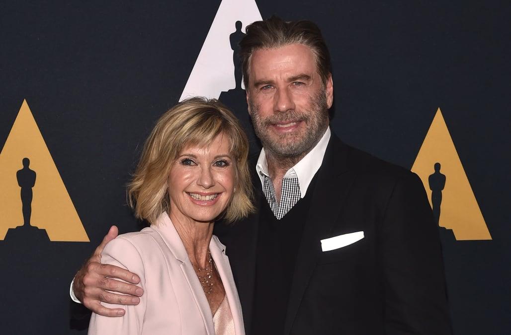 John Travolta and Olivia Newton-John reunite at \'Grease\' 40th ...