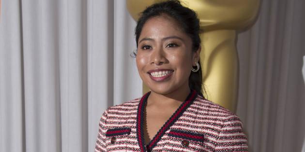 Yalitza Aparicio en la recepción de los nominados al Oscar en Londres el pasado 8 de febrero.