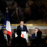 A Versailles, Macron veut rassurer les grands patrons du