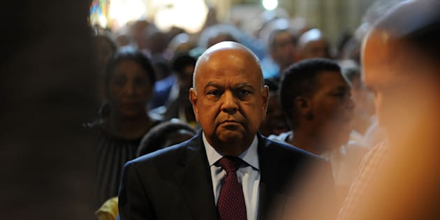 Pravin Gordhan during the memorial service of struggle icon Ahmed Kathrada at St. George's Cathedral  in Cape Town.