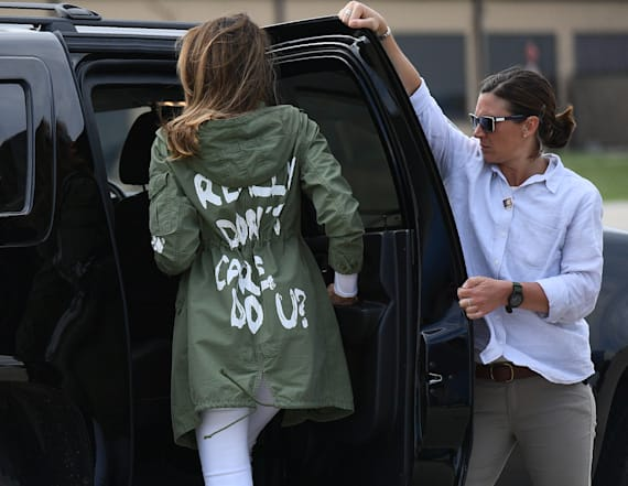 Trump reveals meaning behind Melania's jacket