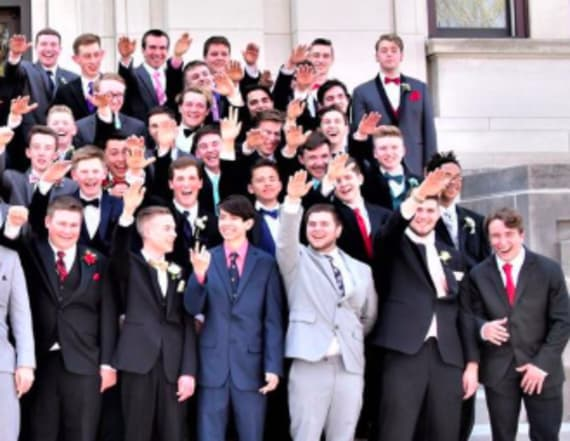 Student speaks out on Nazi salute prom photo