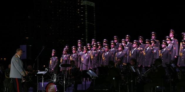 Un concert du chœur de l'Armée Rouge à Beyrouth, le 13 septembre 2014.