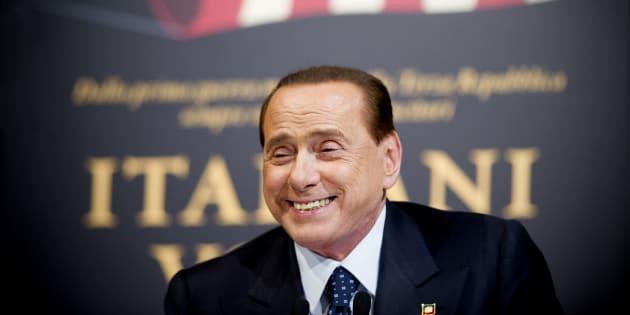 25/11/2014 Roma, presentazione del libro ' Italiani volta gabbana ' . Nella foto Silvio Berlusconi