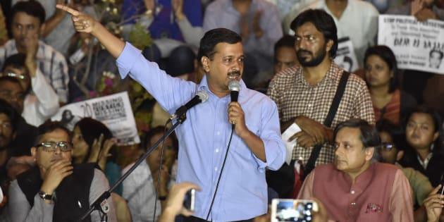 Delhi CM Arvind Kejriwal at JNU campus on 3 November 2016.
