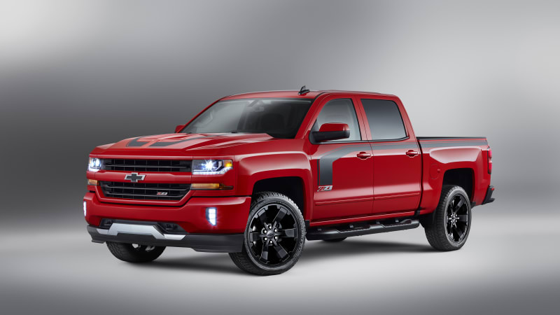 2016 Chevy Silverado Rally Edition Stripes Wheels Not