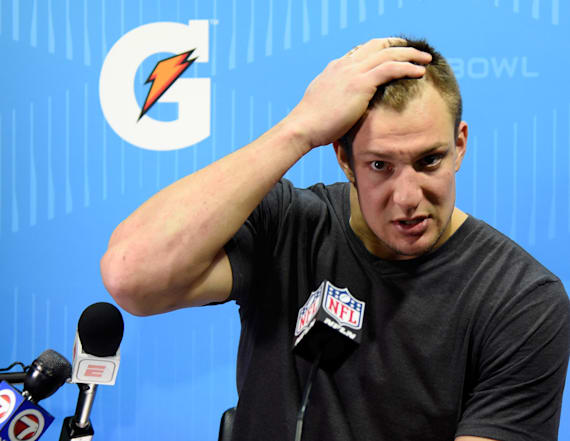 Gronkowski tries Belichick's patience with stunt