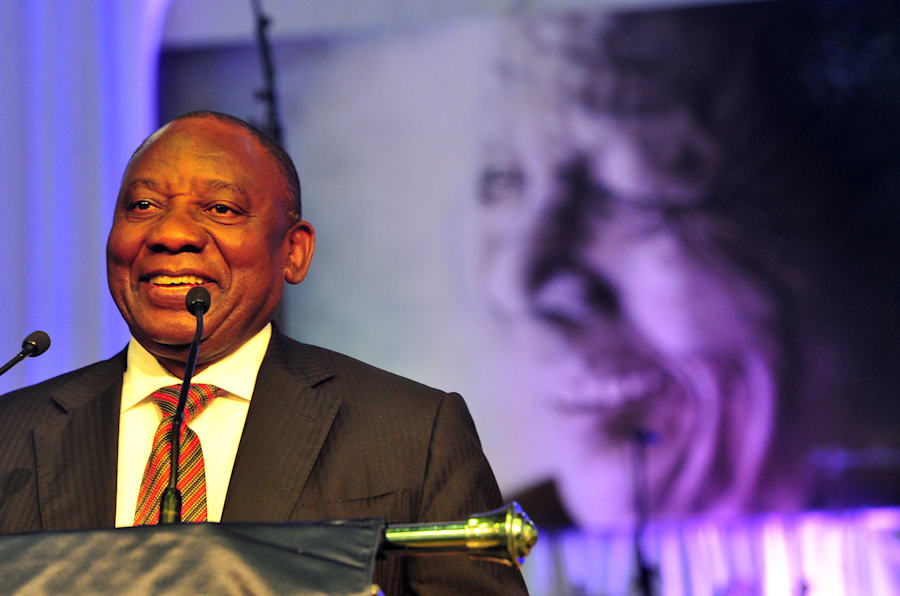 Deputy President Cyril Ramaphosa. His application to prevent details of alleged affairs was struck down by the South Gauteng High Court.