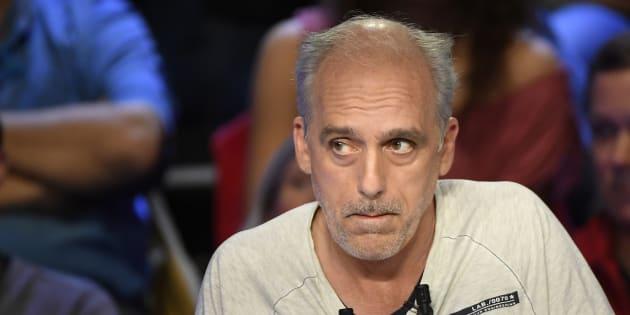 Philippe Poutou, candidat du NPA, pendant le débat télévisé du 4 avril 2017.