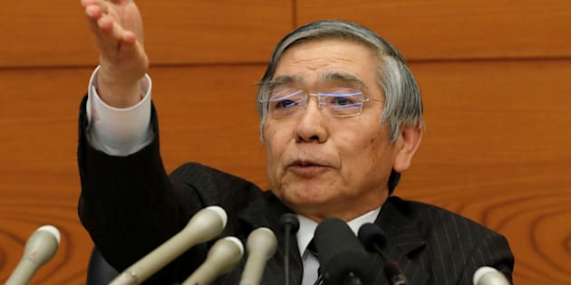 Bank of Japan (BOJ) Governor Haruhiko Kuroda attends a news conference at the BOJ headquarters in Tokyo, Japan January 23, 2018. REUTERS/Kim Kyung-Hoon