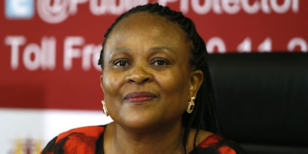 Public Protector Busisiwe Mkhwebane during the release of her report on the enquiry into Nelson Mandela's funeral funds. December 04, 2017 in Pretoria.