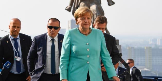 Germany's Chancellor Angela Merkel arrives for the informal EU summit at the Bratislava Castle in the Slovak capital on September 16, 2016.