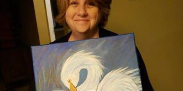 Cette mère de famille ne pensait pas que sa peinture deviendrait virale.