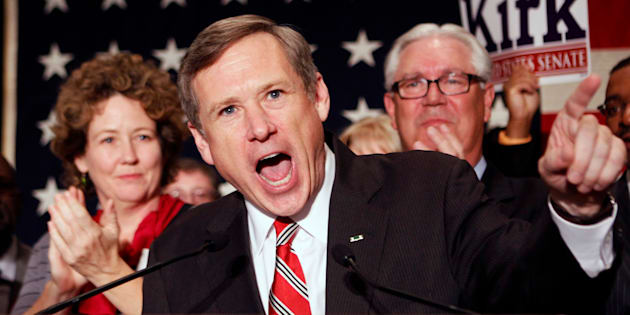 """Sen. Mark Kirk (R-Ill.)said President Obama was""""acting like the drug dealer in chief""""in paying a settlement to Iran."""