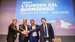 Salvini presenta la sua Europa di muri e di