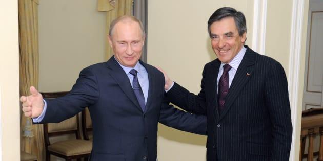 Vladimir Poutine et François Fillon à Moscou en 2013.