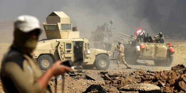 Miembros del ejército de Irak, durante su despliegue en Tal Afar, el pasado 28 de agosto.