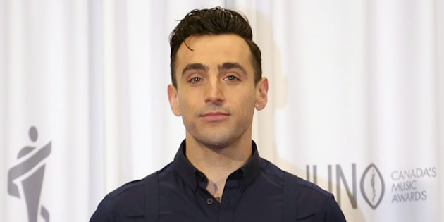 Jacob Hoggard of Hedley poses backstage following the Juno Awards in Hamilton, Ont., on  March 15, 2015.