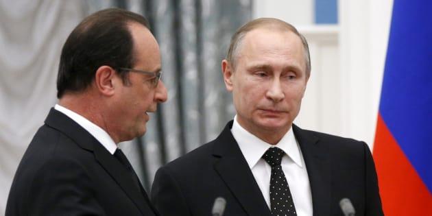 Vladimir Poutine et François Hollande en décembre 2015 à Moscou.
