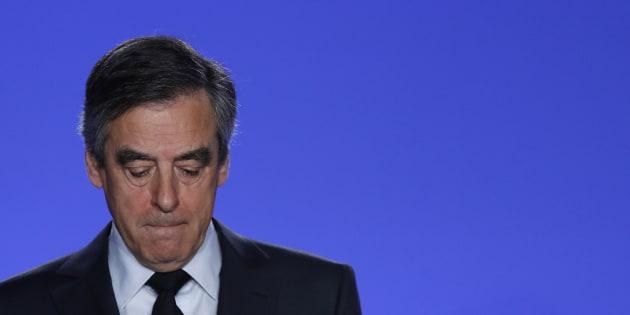 François Fillon à son QG de campagne ce mercredi 1er mars.