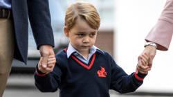Le prince George tout timide pour sa première