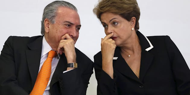 Presidente Michel Temer e ex-presidente Dilma Rousseff.