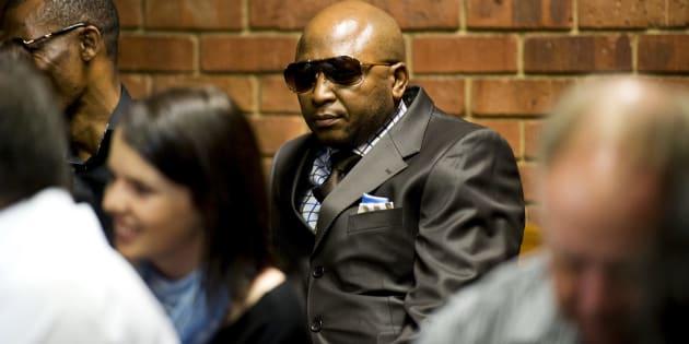 Kenny Kunene at Oscar Pistorius' bail hearing in the Pretoria Magistrate Court on February 19, 2013 in Pretoria.