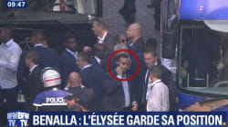 Benalla accompagnait les Bleus sur les Champs-Elysées, mais