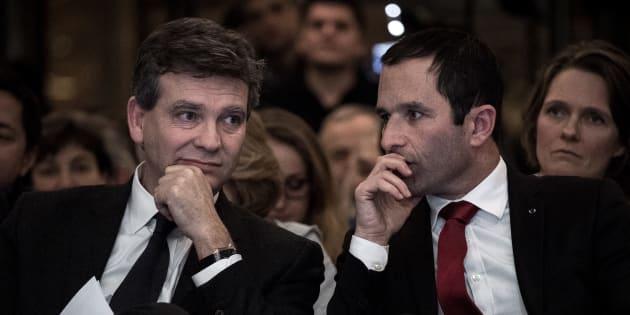 Arnaud Montebourg et Benoît Hamon sont en concurrence sur l'aile gauche du parti.