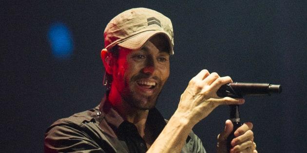 Enrique Iglesias, durante el concierto en El Sardinero (Santander) el sábado 15 de julio de 2017.