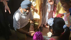 Canadian Defence Minister Harjit Singh Sajjan Gets A Warm Welcome In His Ancestral Village,