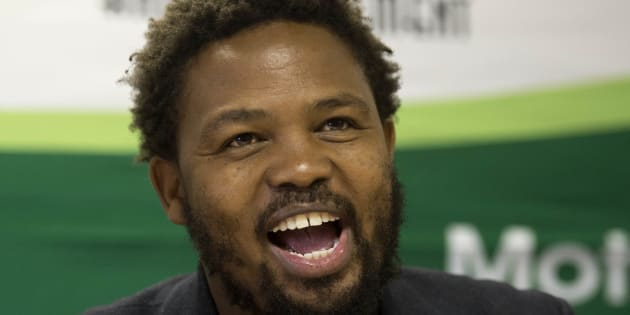 Andile Mngxitama expresses his views during a discussion about the widespread allegations that the Guptas had been interfering with the state when it comes to the hiring and firing of ministers.