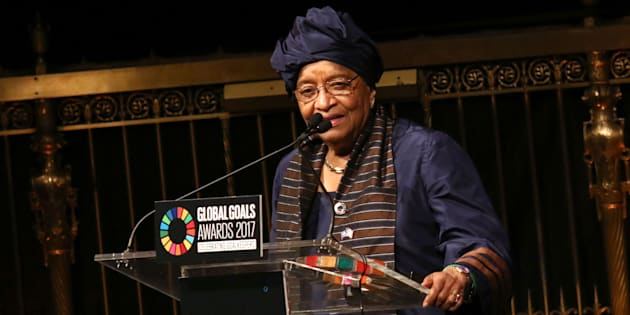 Former Liberian president, Ellen Johnson Sirleaf.
