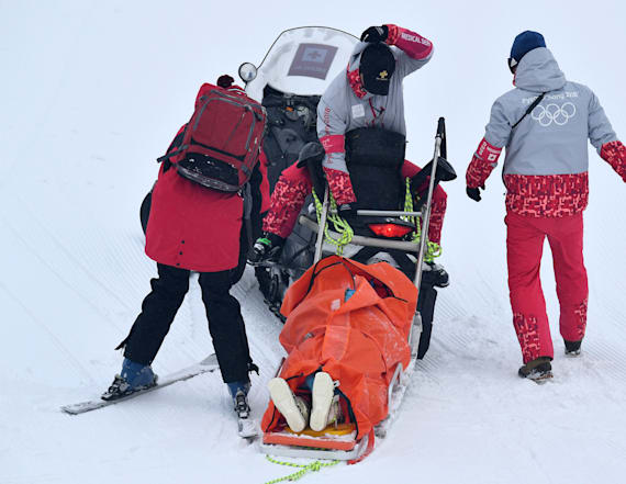 Canadian skier India Sherret suffers brutal crash